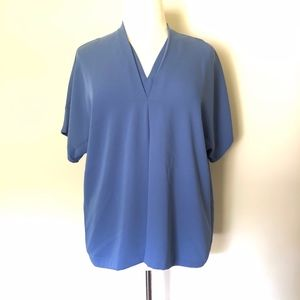 Alfani Short Sleeve Periwinkle Blue Blouse